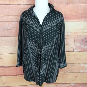 Penningtons blouse button down shirt
